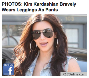 Kardashian Leggings on Kim Kardashian Leggings